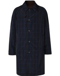 Lanvin - Reversible Checked Shell And Cotton-twill Raincoat - Lyst