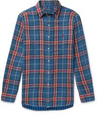 Polo Ralph Lauren - Checked Double-faced Cotton-flannel Shirt - Lyst