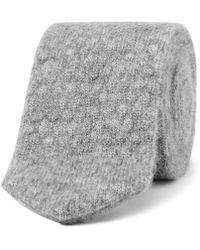 Ermenegildo Zegna - 6cm Mélange Cashmere And Silk-blend Knitted Tie - Lyst