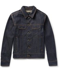 Rag & Bone - Dark Washed Jean Jacket - Lyst