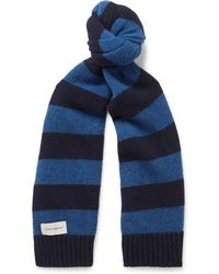 Oliver Spencer - - Arbury Striped Wool Scarf - Navy - Lyst