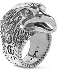 Gucci | Eagle's Head Sterling Silver Ring | Lyst