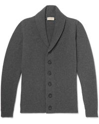John Smedley - Shawl-collar Wool And Cashmere-blend Cardigan - Lyst