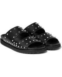 Alexander McQueen - Studded Leather Slides - Lyst