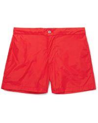 Officine Generale - Roman Slim-fit Mid-length Swim Shorts - Lyst