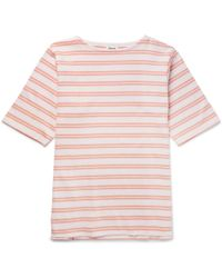 Acne Studios - Nimes Striped Cotton-jersey T-shirt - Lyst