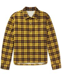 Undercover - Checked Cotton-flannel Shirt - Lyst