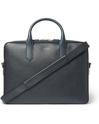 Smythson - Panama Cross-grain Leather Briefcase - Lyst