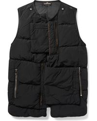 Stone Island - Slim-fit Garment-dyed Quilted Shell Down Gilet - Lyst