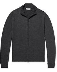 John Smedley - Claygate Merino Wool Zip-up Cardigan - Lyst
