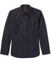 CALVIN KLEIN 205W39NYC - Forge Twill Overshirt - Lyst