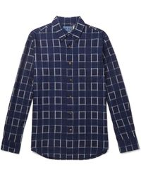 Blue Blue Japan - Checked Cotton-flannel Shirt - Lyst