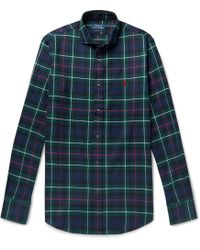 Polo Ralph Lauren - Slim-fit Checked Brushed-cotton Shirt - Lyst