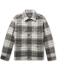 Ralph Lauren Purple Label - Checked Wool And Alpaca-blend Jacket - Lyst