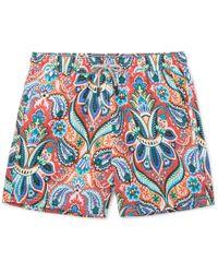 Etro - Ponza Mid-length Printed Shell Swim Shorts - Lyst