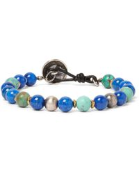 Peyote Bird - Turquoise, Lapis And Sterling Silver Bracelet - Lyst
