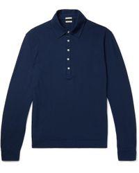 Massimo Alba - Ischia Cotton-jersey Polo Shirt - Lyst