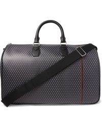 f04473420eccc Dunhill Radial Leather-trimmed Canvas Holdall in Black for Men - Lyst