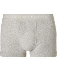 CALVIN KLEIN 205W39NYC - Mélange Cotton Boxer Briefs - Lyst