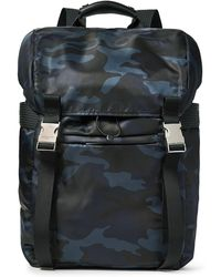 Sandro - Leather-trimmed Camouflage-print Shell Backpack - Lyst