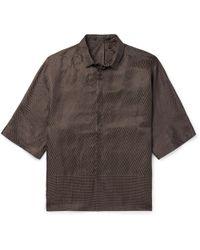 Haider Ackermann - Linen And Silk-blend Jacquard Shirt - Lyst