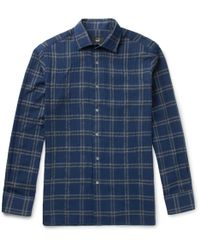 Dunhill - Slim-fit Checked Cotton-blend Shirt - Lyst