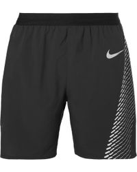 Nike - Flex Printed Distance Dri-fit Mesh Shorts - Lyst