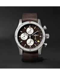 Bremont - Boeing 100 Automatic Chronometer 43mm Titanium And Leather Watch - Lyst