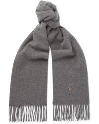 Polo Ralph Lauren - Fringed Wool Scarf - Lyst