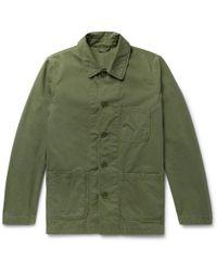 Aspesi - Garment-washed Cotton-twill Field Jacket - Lyst