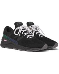 New Balance - X90 Suede-trimmed Mesh Sneakers - Lyst