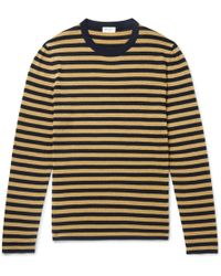 Saint Laurent - Slim-fit Striped Knitted Sweater - Lyst