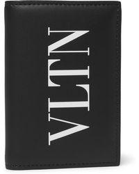 Valentino - Garavani Logo-print Leather Billfold Wallet - Lyst
