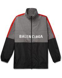Balenciaga - Logo Windbreaker Jacket - Lyst