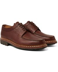 Yuketen - Heschung Pebble-grain Leather Derby Shoes - Lyst