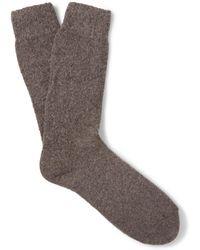 Anderson & Sheppard - Wool-blend Socks - Lyst