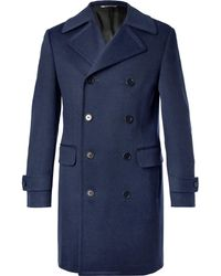 Canali - Double-breasted Wool And Cashmere-blend Coat - Lyst