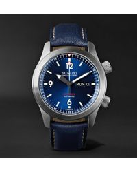 Bremont - U2/bl Automatic 45mm Stainless Steel And Leather Watch - Lyst