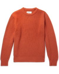Universal Works - Ribbed Wool-blend Jumper - Lyst