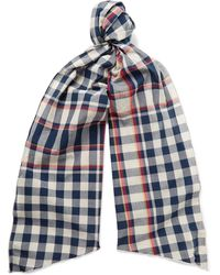 Engineered Garments - Checked Cotton Scarf - Lyst