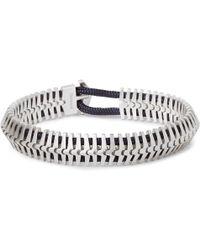 Miansai - Klink Sterling Silver Cord Bracelet - Lyst