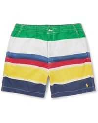 Polo Ralph Lauren - Colour-block Stretch-cotton Twill Shorts - Lyst