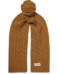 Oliver Spencer Arbury Cable-knit Wool Scarf - Brown