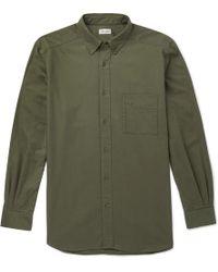 Camoshita - Button-down Collar Cotton Shirt - Lyst