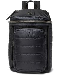 Moncler - New Yannick Leather-trimmed Quilted Shell Backpack - Lyst