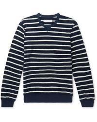 Orlebar Brown - Pierce Striped Cotton-terry Sweatshirt - Lyst