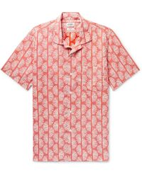 Hartford - Slam Camp-collar Printed Cotton Shirt - Lyst
