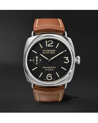 Officine Panerai - Radiomir Black Seal 8 Days Acciaio 45mm Stainless Steel And Leather Watch - Lyst