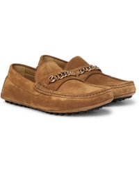 Tom Ford - York Chain-trimmed Suede Driving Shoes - Lyst
