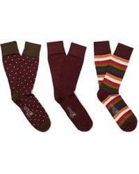 Corgi - Three-pack Cotton-blend Socks - Lyst